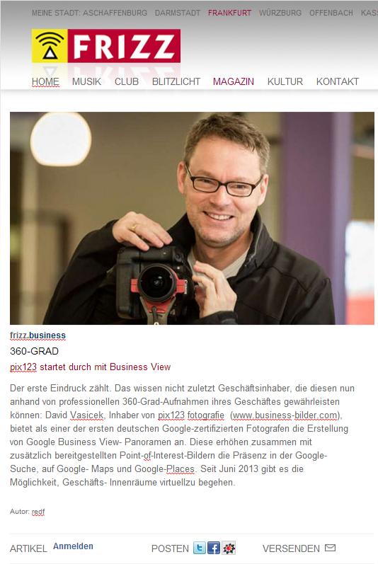 360-Grad - FRIZZ online - Stadtmagazin - Magazin